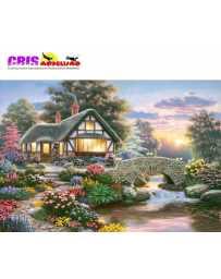 Puzzle Cabaña Sobre el Puente de 1000 piezas