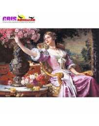 Puzzle Señora en Vestido Purpura de 3000 piezas