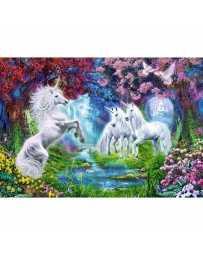 Puzzle Cita con el Unicornio de 1000 piezas