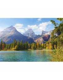 Puzzle Picos de las Montañas sobre el Lago de 1500 piezas