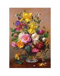 Puzzle Flores de Verano en un Florero de Cristal de 1500 piezas