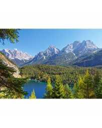 Puzzle Lago en Alpes