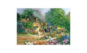 Puzzle Casa con Rosas