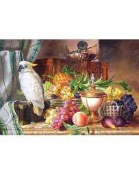 Puzzle Bodegón con Frutas y una Cacatúa de 3000 piezas