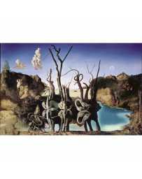 Puzzle Cisnes Reflejando Elefantes de 1500 piezas