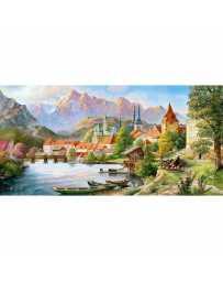 Puzzle Ciudad en la Sombra de las Montañas de 4000 piezas