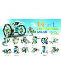 Juguete Kit Robot Solar Educativo 14 en 1