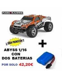 Juguete Parkracers Abyss Orange Con Dos Baterías