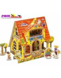 Puzzle 3D Casa de Muñecas Infantil
