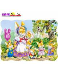 Puzzle Familia Conejo de 30 piezas