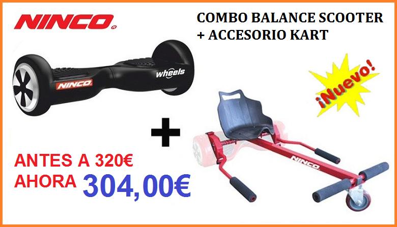 Juguete Combo Balance Scooter + Kart