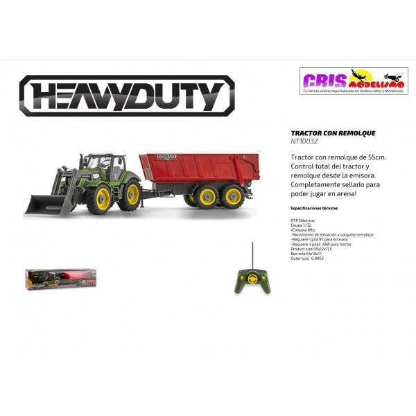 Juguete Heavy Duty Tractor Con Remolque