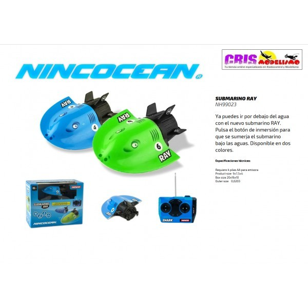 Lancha Nincocean Submarino Ray Azul