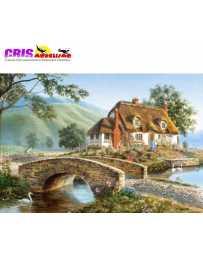 Puzzle Cabaña del Puente de 500 piezas
