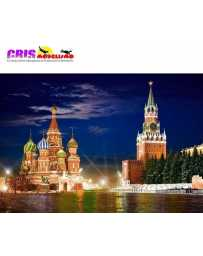 Puzzle Plaza Roja de Noche, Moscú