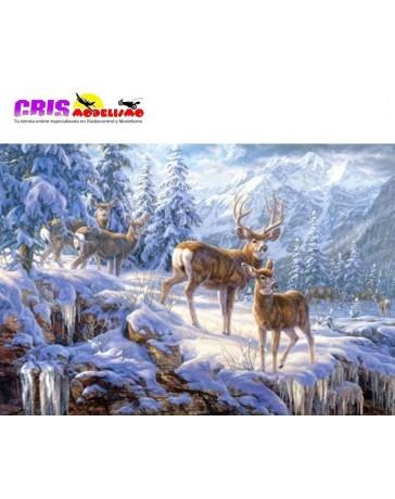 Puzzle Ciervos en la Montaña de 1000 piezas