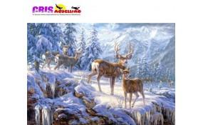 Puzzle Ciervos en Montaña