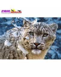 Puzzle Leopardo en Nieve