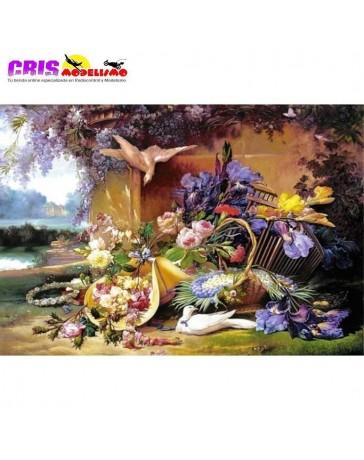 Puzzle Elegante Naturaleza Muerta con Flores de 2000 piezas