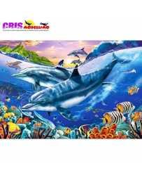 Puzzle Laguna de Delfines 3000 Piezas