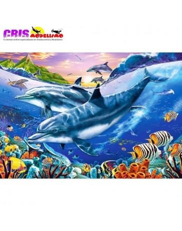 Puzzle Laguna de los Delfines de 3000 piezas
