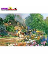 Puzzle Casa con Rosas 3000 Piezas