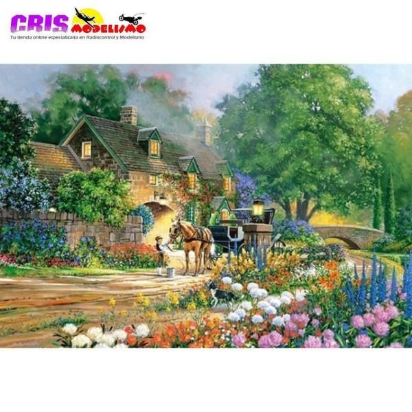 Puzzle Casa con Rosas en la Calle de 3000 piezas