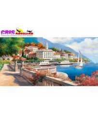 Puzzle Idílico Paisaje del Lago Como, Italia de 4000 piezas