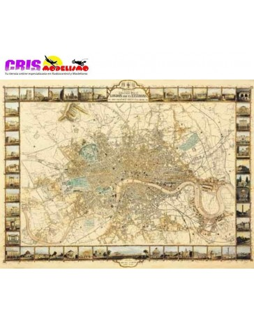 Puzzle El Plan de Londres de 1000 piezas