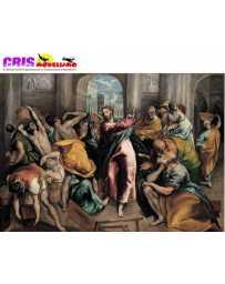 Puzzle Cristo Conduce a los Comerciantes del Templo de 1500 piezas