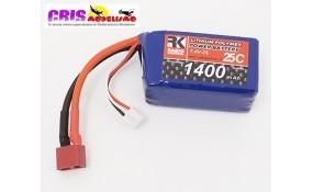 Recambio Batería Li-po 7,4V 1400mAh 25C