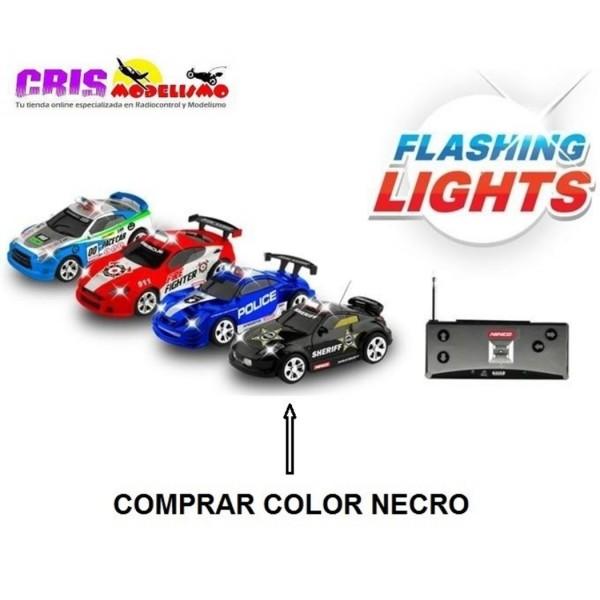 Juguete Parkracers Flash Light Car Negro