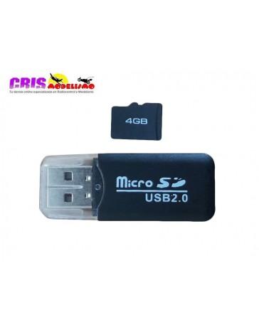 Recambio USB con MicroSD 4GB Drone Shadow