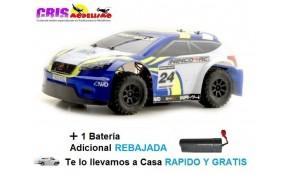 Coche Sport Rally Electrico RTR Blue Con Dos Baterías