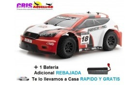 Coche Sport Rally Electrico RTR Red Con Batería