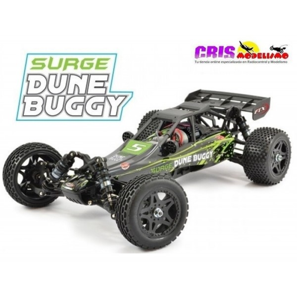 Coche FTX Surge Verde 1/12 4WD Brushed Dune Buggy RTR