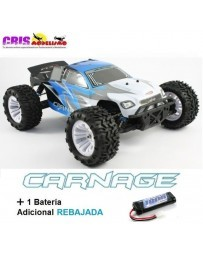 Coche FTX Carnage 1/10 4WD Brushed Truggy RTR Con Dos Baterias