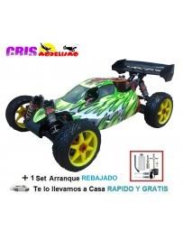 Coche Bazooka Version GT Verde Buggy Nitro RTR Con Set de Arranque