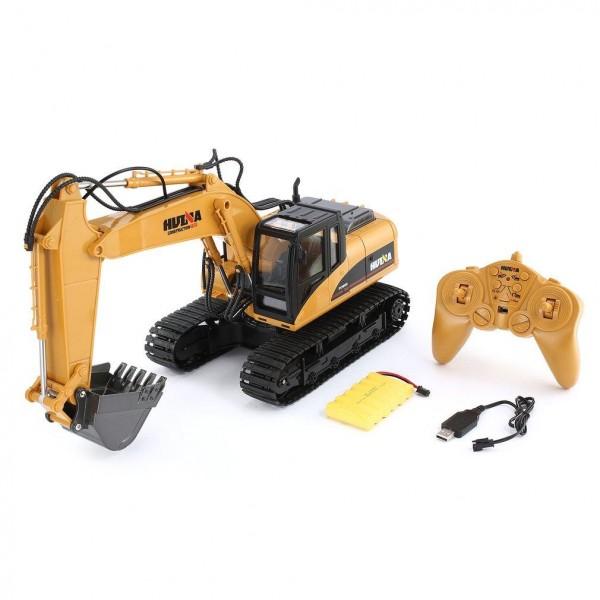 Juguete Huina Excavadora con oruga 2,4Ghz