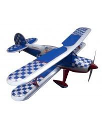 Avión Seagull Steen Skybolt Blanco/Azul 15cc ARTF Gasolina/Electrico