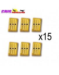 Accesorio Cuadernales 3 Agujeros Boj 7mm Constructo