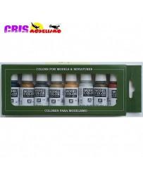 Set de 8 Model Color Metallic Colors