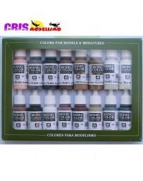 Set 16 Model Color Colores Ecuestres