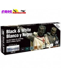 Set Efectos Vallejo Blanco y Negro 8 Colores