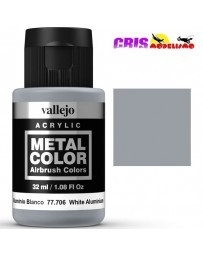 Metal Color Vallejo Aluminio Blanco 32ml