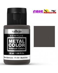 Metal Color Vallejo Hierro Quemado 32ml