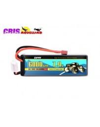 Batería Li-po Hard Case 7,4V 6000mAh 50C