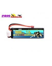 Batería Li-po Hard Case 7,4V 4000mAh 50C