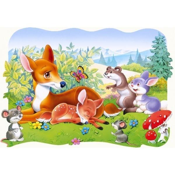 Puzzle Ciervos Pequeños de 30 piezas