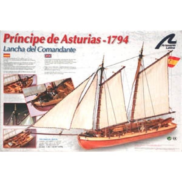 Maqueta Principe de Asturias Lancha del Comandante